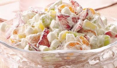 Salad Buah Mayonnaise dan Keju