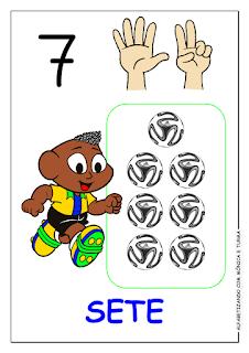 numerais turma da monica atividades
