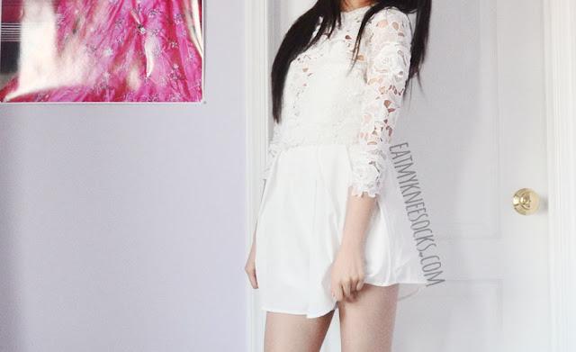 9bbdb313947e SheIn Fashion Review  White Romper + Pink Faux Fur Coat