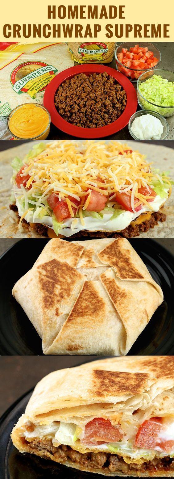 Homemade Crunchwrap Supreme Recipe #homemade #crunchwarp #supreme #recipe #dinnerrecipes #dinnerideas #dinner