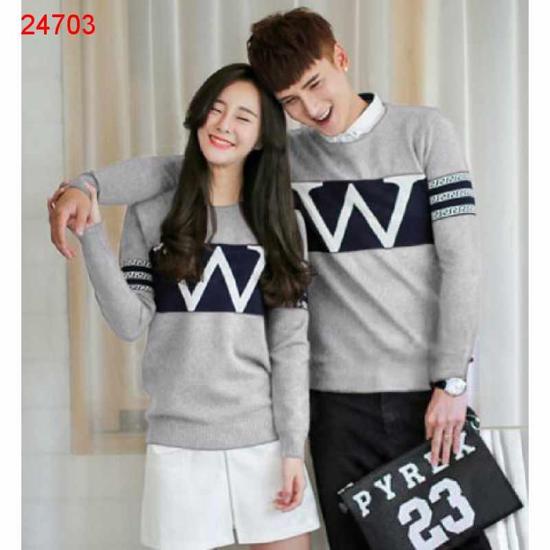 Jual Sweater Couple Sweater Wonder Neo Misty Black - 24703