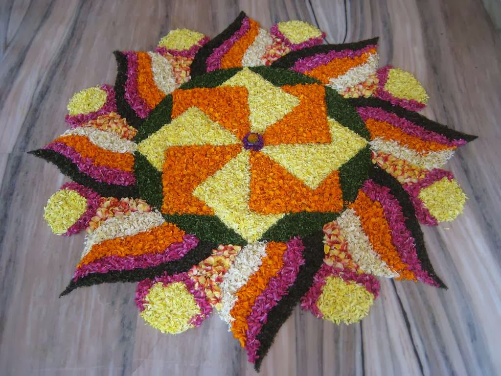 Colorful Holi Rangoli Pattern