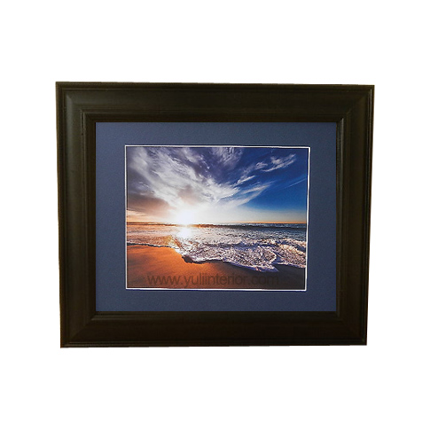 Sandy Beach Sunset Wall Frame