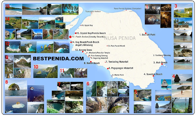 NUSA PENIDA TOURIST MAP