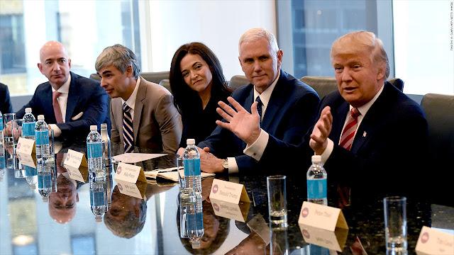 Trump rencontre les directeurs des entreprises technologiques