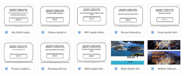 Perangkat Pembelajaran Akidah Akhlak MTs Kelas 7 Kurikulum 2013