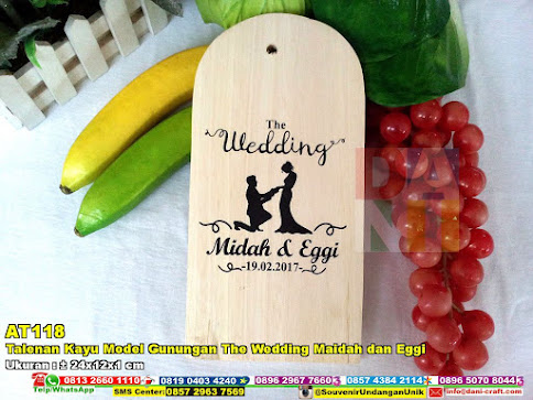 Talenan Kayu Model Gunungan The Wedding Maidah Dan Eggi