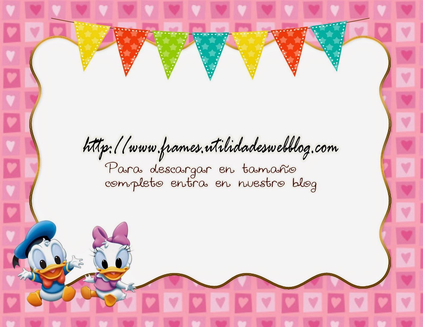 Portaretratos y fotomontajes infantiles baby donald daisy