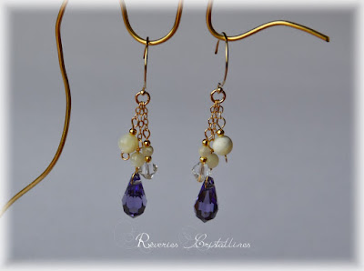 Boucles d'oreilles mariage or gold filled