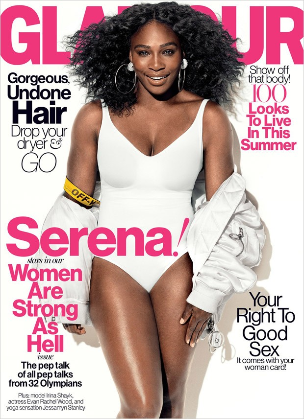 Serena Williams flaunts curves for Glamour US July 2016