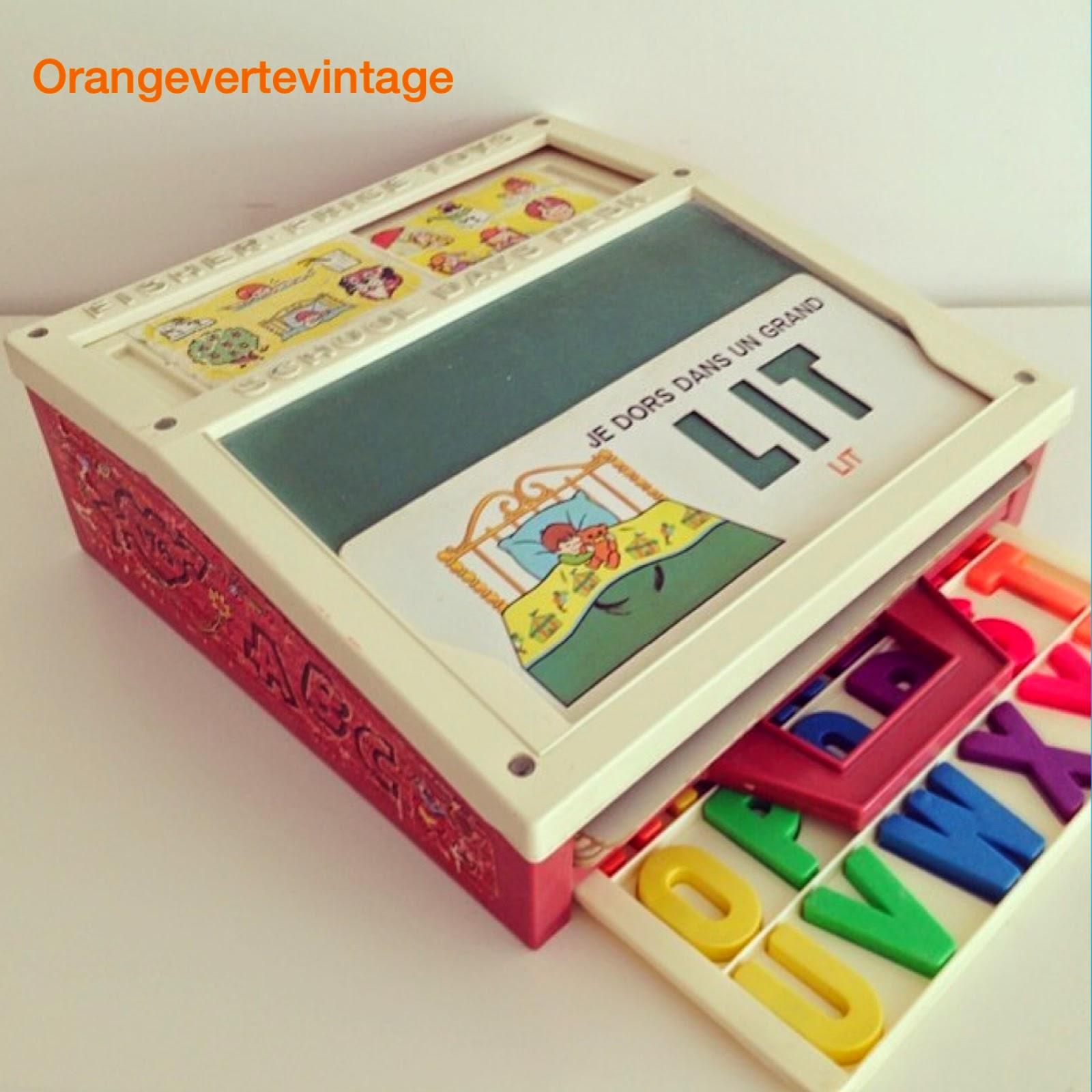 orange verte vintage