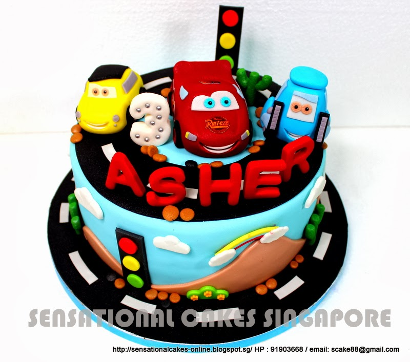 Cakes2Share Singapore: CARS AND FRIENDS THEME CAKE