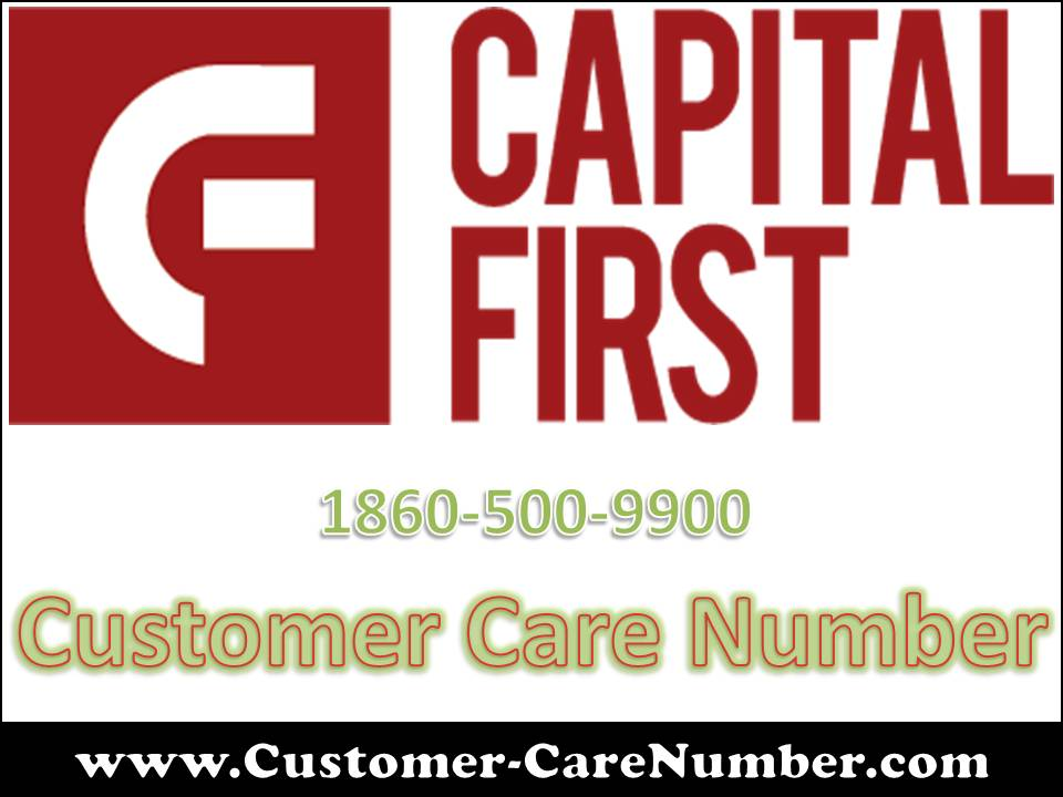Capital First Customer Care Number