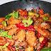 Cánh gà xào cay nóng hổi cho bữa cơm ngày mát trời