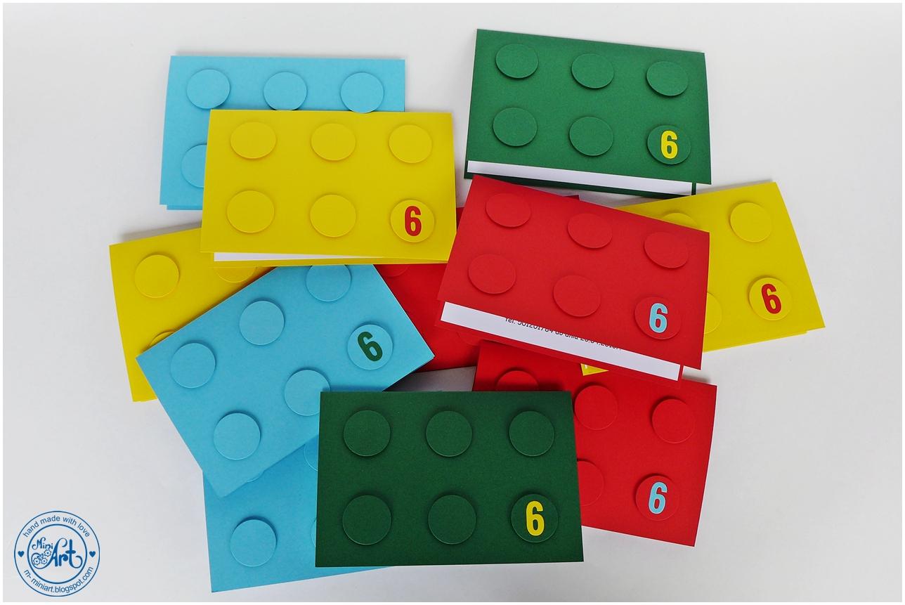 Miniart Hand Made With Love Zaproszenia Lego Lego Invitation