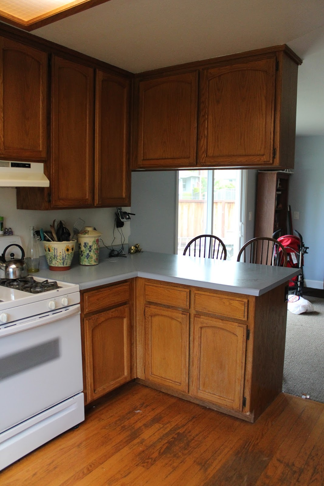 First Up: Remove The Cabinet Over The Peninsula. It Really Closed Off The  Kitchen And Made It Feel Darker And Smaller. If You Were Sitting At The Bar  You ...