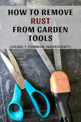 Removing rust from small garden tools
