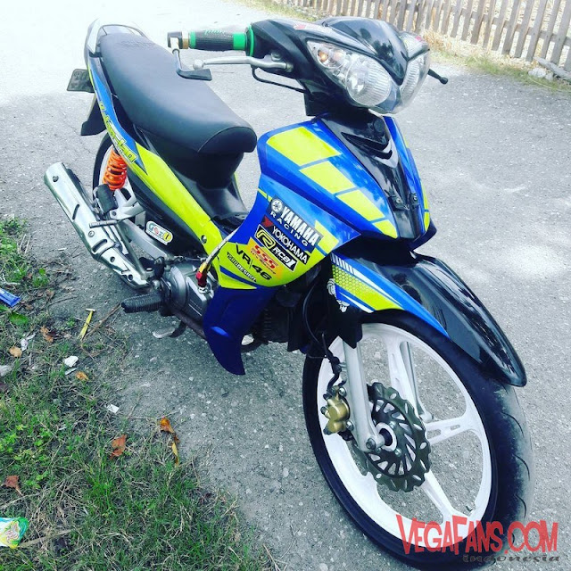 Jupiter Z Hitam Biru Modif Road Race