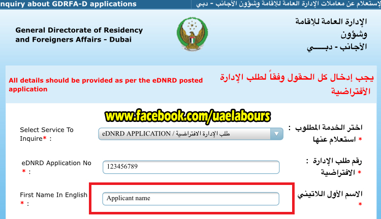 how to know visa status online