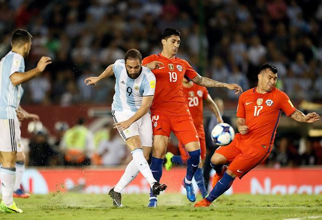 Argentina y Chile en Clasificatorias a Rusia 2018, 23 de marzo de 2017