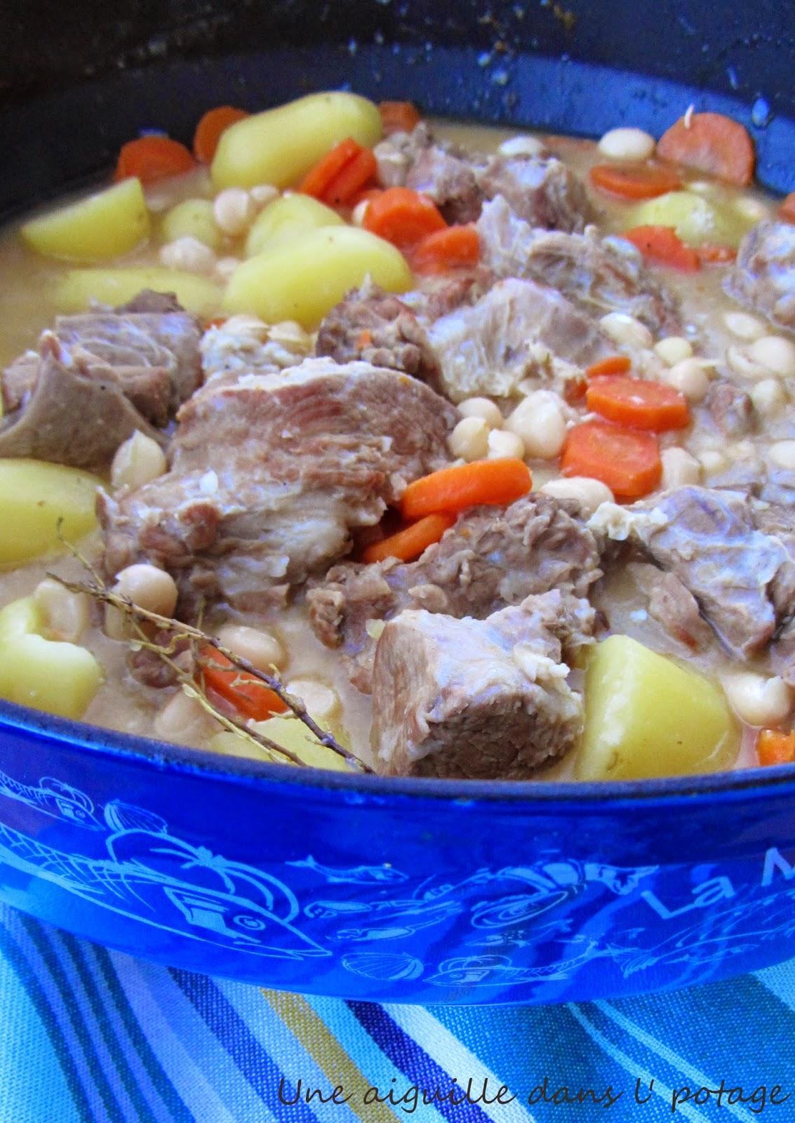 Ragoût de veau aux cocos de Paimpol