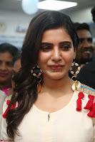Samantha Ruth Prabhu Smiling Beauty in White Dress Launches VCare Clinic 15 June 2017 042.JPG
