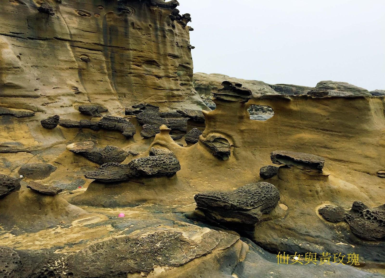 仙女與黃玫瑰: 臺灣.番仔澳的酋長巖&岬角象鼻洞