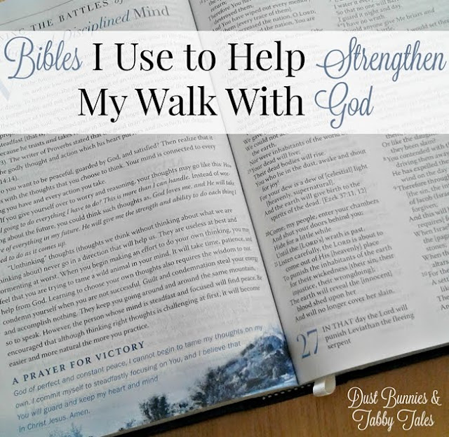 Bibles I Use to Help Strengthen My Walk With God