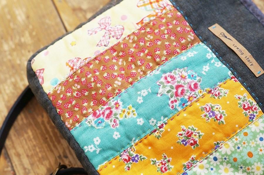 A little patchwork bag tutorial. Сумочка из ткани в технике пэчворк.