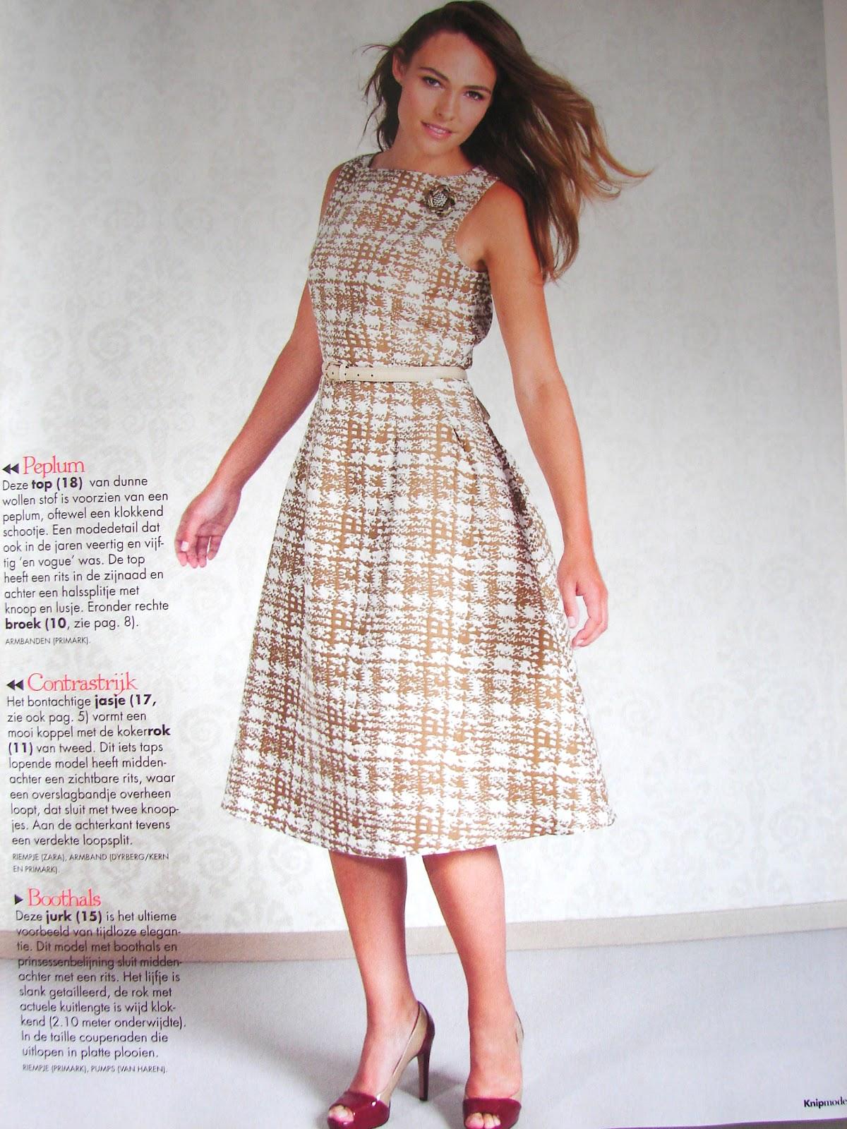 7dc96174dd23c7 Mooi klokkend jurkje. Kan je van tig soorten stofjes maken. Heeft mooie  ingestikte plooitjes (vanuit een figuurnaad). Bij de doorpas even  binnenstebuiten ...
