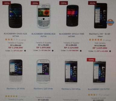 Harga BlackBerry Terkini