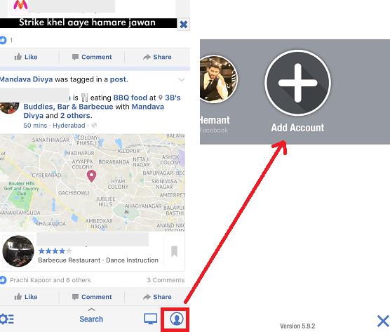 Begini Cara Mengelola beberapa Akun Facebook di iPhone dan Android App 3