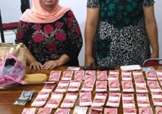 Polres Kep.Selayar Amankan 2 Wanita, Tersangka Pengedar ,Jutaan Rupiah, Uang Palsu