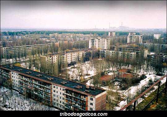 cidade abandonada radiação elevada