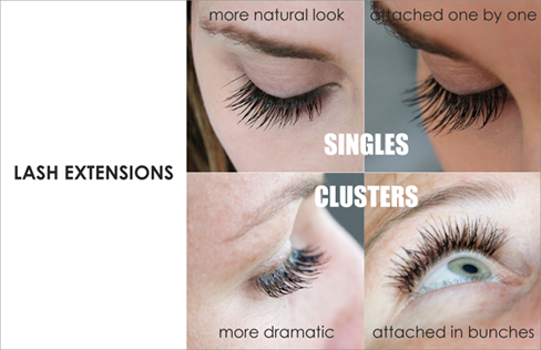 7ff20eb3bdc My Addiction Makeup: Lash Extensions : Singles vs Clusters