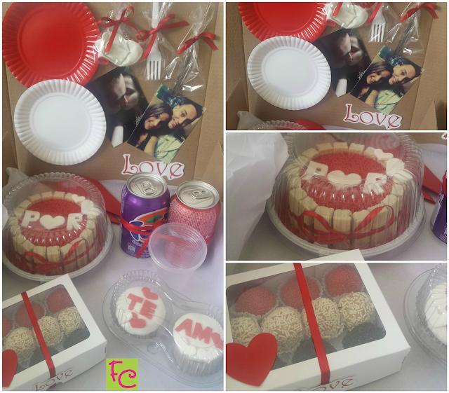 Festa na Caixa 02 - Tema Romântica Vermelha e Branca Com Fotos do Casal