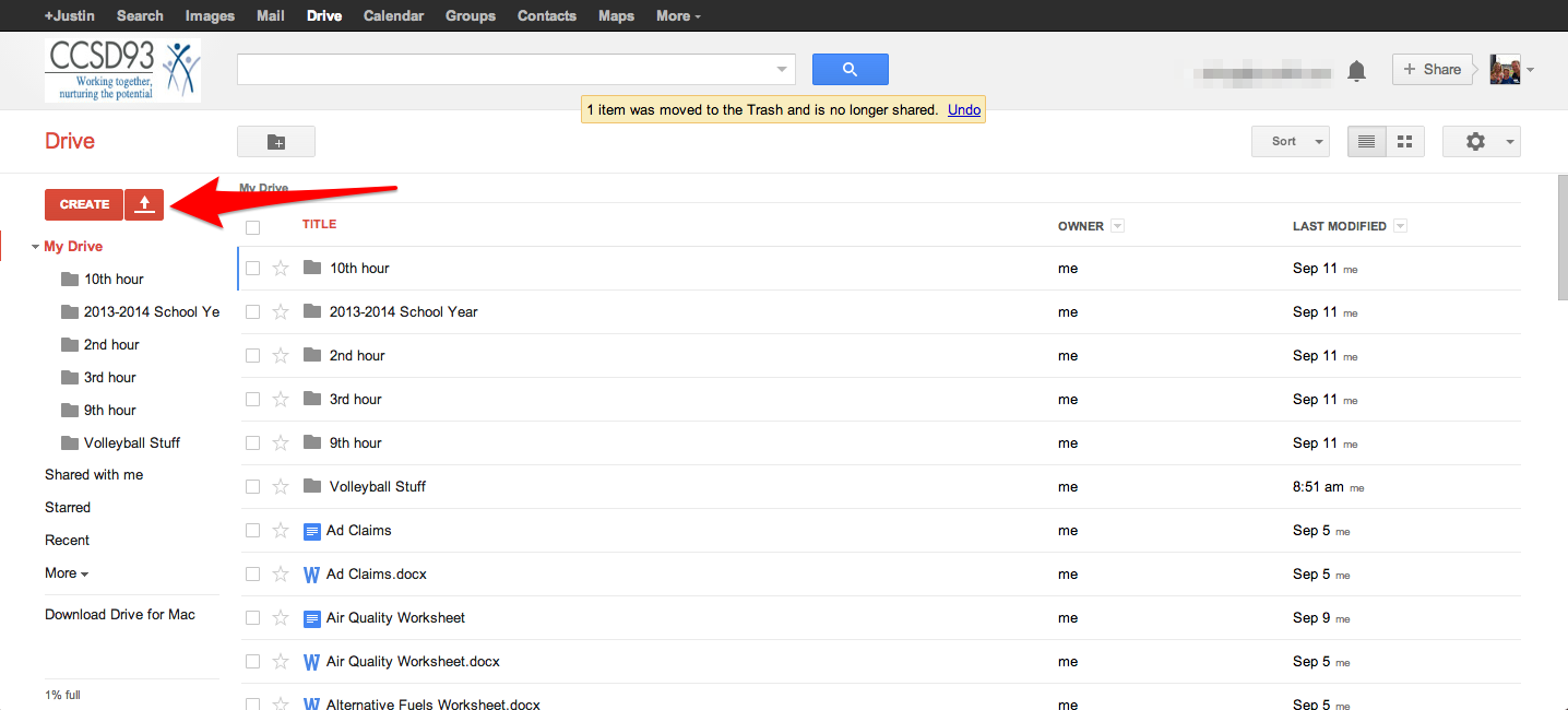 start google drive