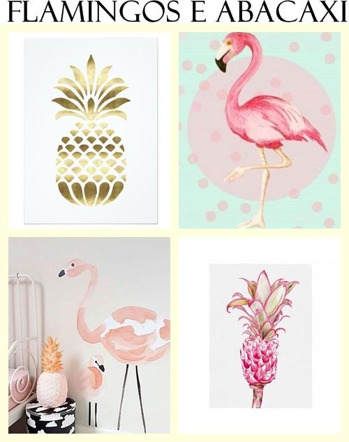 Flamingos na decoração