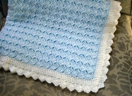Cute Knitting Crochet Baby Blanket