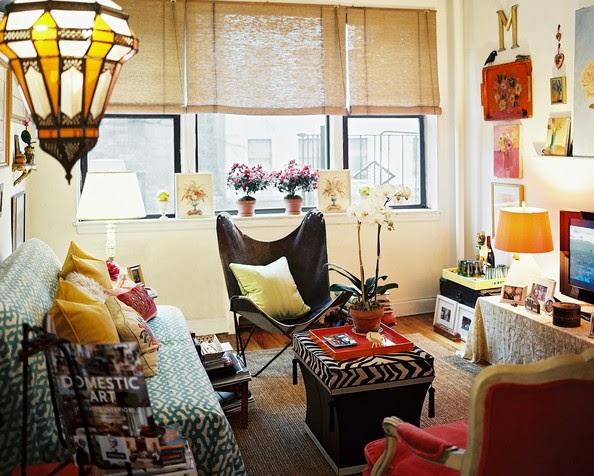 Vintage Living Room Yang Berpadu Dengan A Bohemian
