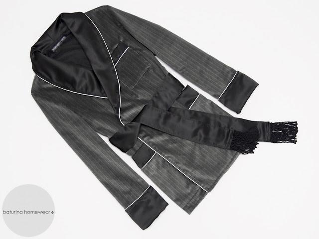 herren hausjacke morgenmantel samt schwarz warm smoking jacket englisch gesteppt gefüttert edel elegant exklusiver hausmantel britisch raucher jacke