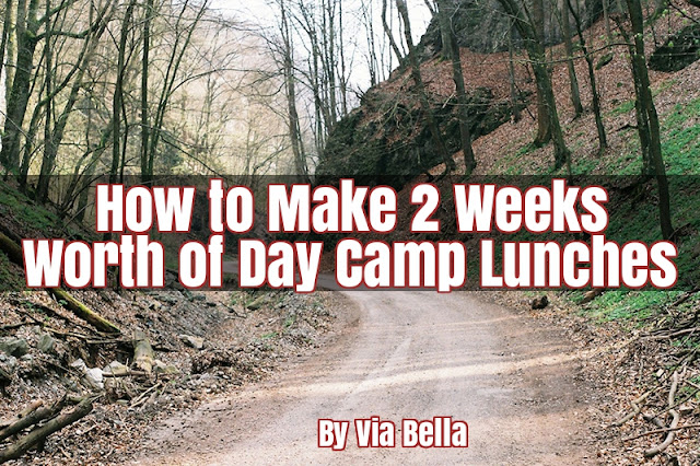 How to Make 2 Weeks Worth of Day Camp Lunches, shopping lists, Girl Scouts, Boy Scouts, camping, day camp, menu planning, parenting, lunches, via bella