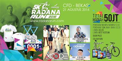 Radana Run 5K 2016 Bekasi CFD Car Free Day Bekasi Sumarecon Mall