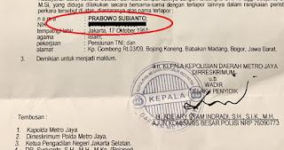 Alhamdulillah.. Polisi Tarik SPDP Prabowo Subianto Soal Dugaan Makar