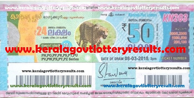 daily kerala lottery result, kerala state lottery result, karunya plus kn203 lottery result