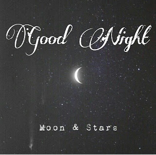good night moon and stars
