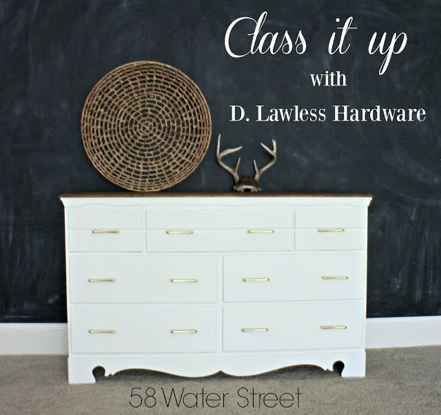 d. lawless hardware, putting new hardware on furniture, dresser makeover, painted dresser