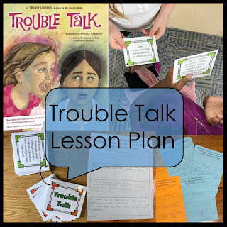Trouble Talk by Judy Ludwig book cover and Lesson plan examples
