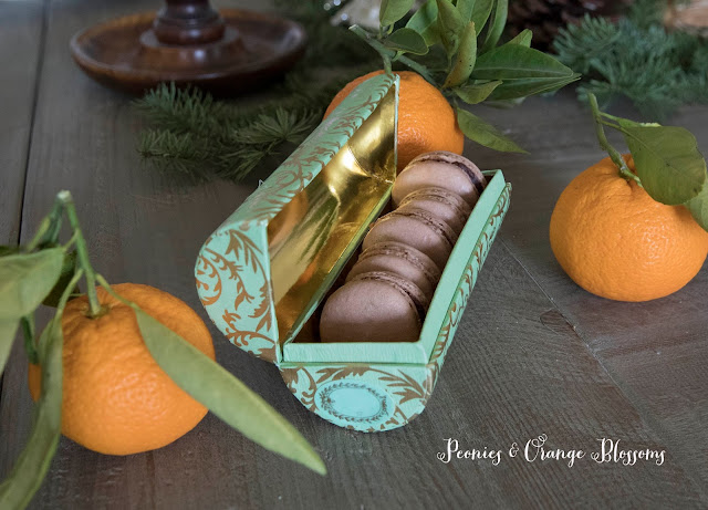 Chocolate Orange Ganache Macarons
