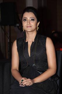 Actress Trisha Latest Stills in Black Dress at Shop CJ Tamil Channel Launch  0003